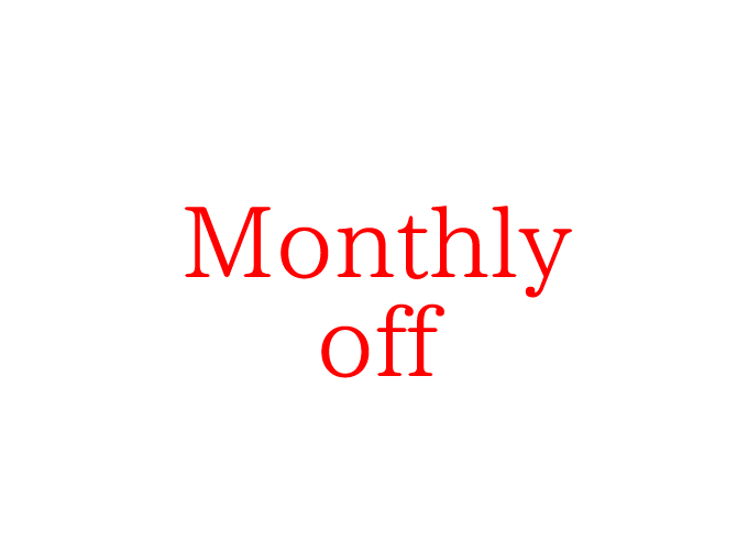 Monthly off